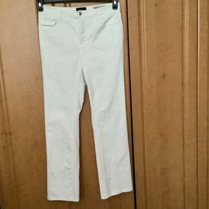 Not Your Daughters Jeans White Sz 12  Tapered Leg